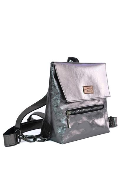 Mały EKO plecak Small Backpack Dark Silver (1)