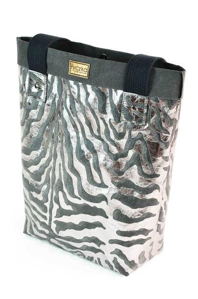 Shopperka BIG BAG Dark Silver Zebra (1)