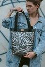 Shopperka BIG BAG Dark Silver Zebra (4)
