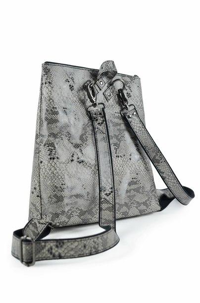 Plecak ELEGANCE Grey Reptile (1)